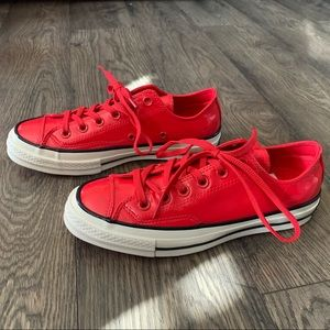 Converse chuck 70 cherry red black leather